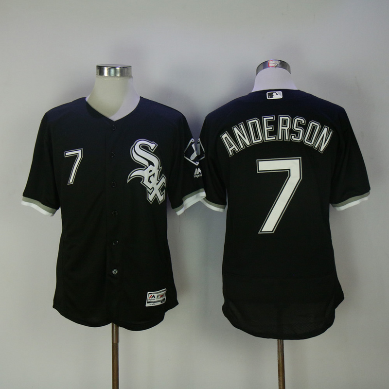 2017 MLB Chicago White Sox 7 Anderson Black Elite Jerseys