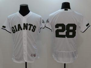 2017 MLB San Francisco Giants 28 Buster Posey White Elite Commemorative Edition Jerseys