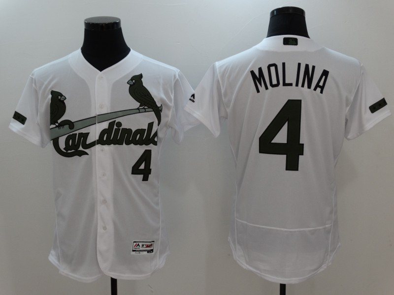 2017 MLB St. Louis Cardinals 4 Molina White Elite Commemorative Edition Jerseys