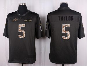 Buffalo Bills 5 Taylor 2016 Nike Anthracite Salute to Service Limited Jersey