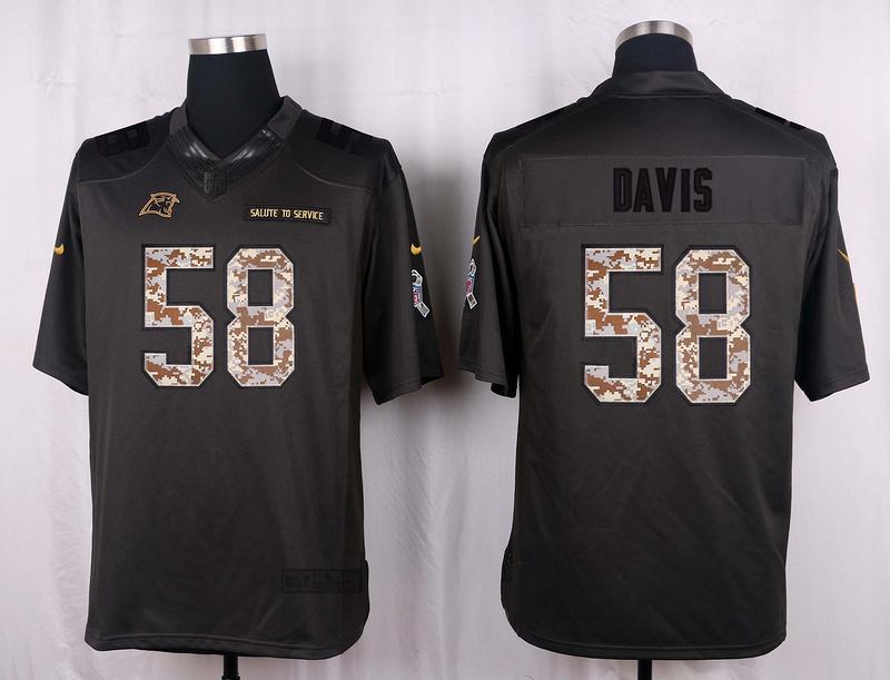 Carolina Panthers 58 Davis 2016 Nike Anthracite Salute to Service Limited Jersey