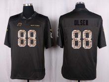 Carolina Panthers 88 Olsen 2016 Nike Anthracite Salute to Service Limited Jersey