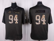 Carolina Panthers 94 Jackson 2016 Nike Anthracite Salute to Service Limited Jersey