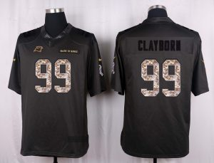 Carolina Panthers 99 Clayborn 2016 Nike Anthracite Salute to Service Limited Jersey