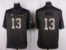 Chicago Bears 13 White 2016 Nike Anthracite Salute to Service Limited Jersey