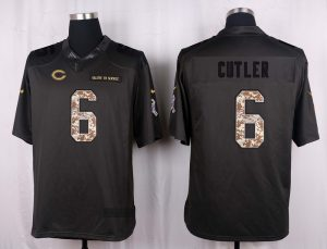 Chicago Bears 6 Cutler 2016 Nike Anthracite Salute to Service Limited Jersey
