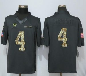 Dallas Cowboys 4 Prescott Anthracite Salute To Service Nike Limited Jersey