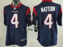 Houston Texans 4 Watson Blue Game 2017 Nike Jerseys