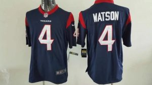 Houston Texans 4 Watson Blue Game 2017 Nike Jerseys
