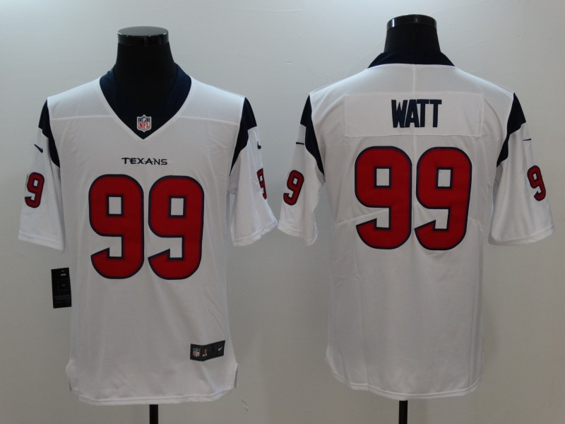 Men Houston Texans 99 Watt White Nike Vapor Untouchable Limited Jersey