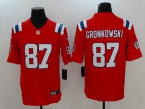 Men New England Patriots 87 Gronkowski Red Nike Vapor Untouchable Limited Jersey