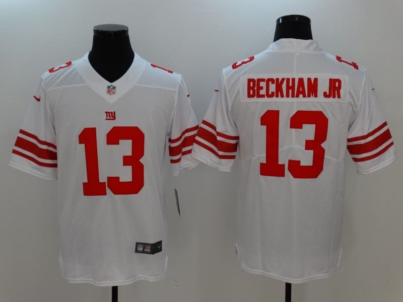 Men New York Giants 13 Beckham JR White Nike Vapor Untouchable Limited Jersey