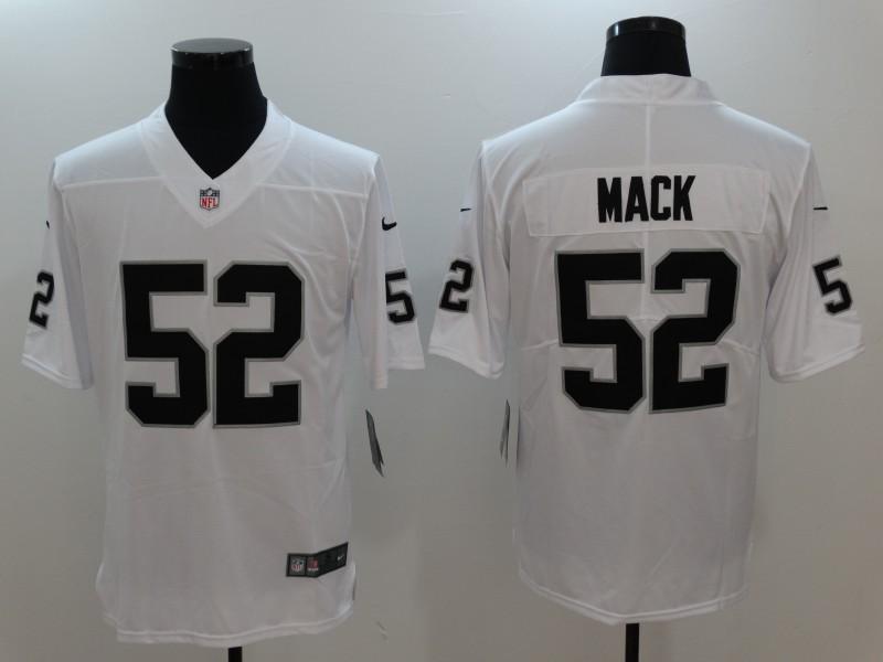 Men Oakland Raiders 52 Mack White Nike Vapor Untouchable Limited Jersey