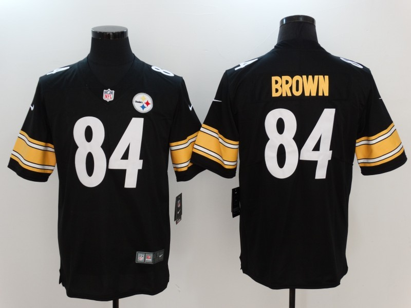 Men Pittsburgh Steelers 84 Brown Black Nike Vapor Untouchable Limited Jersey