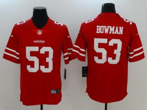 Men San Francisco 49ers 53 Bowman Red Nike Vapor Untouchable Limited Jersey