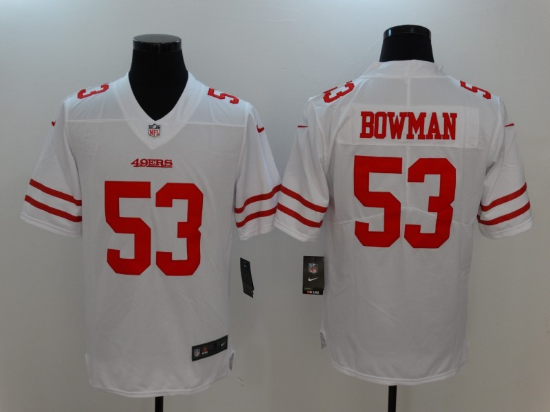 Men San Francisco 49ers 53 Bowman White Nike Vapor Untouchable Limited Jersey