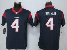 Womens Houston Texans 4 Watson Blue New Nike Jerseys