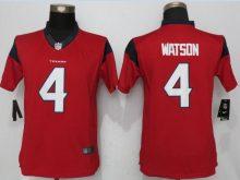 Womens Houston Texans 4 Watson Red New Nike Jerseys