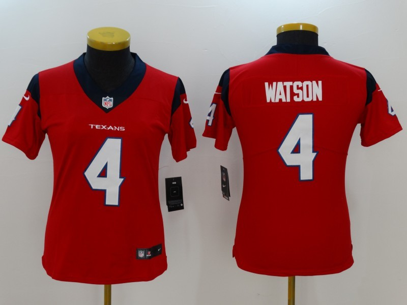 Womens Houston Texans 4 Watson Red Nike Vapor Untouchable Limited Jersey