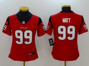 Womens Houston Texans 99 Watt Red Nike Vapor Untouchable Limited Jersey
