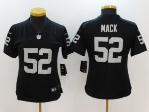Womens Oakland Raiders 52 Mack Black Nike Vapor Untouchable Limited Jersey