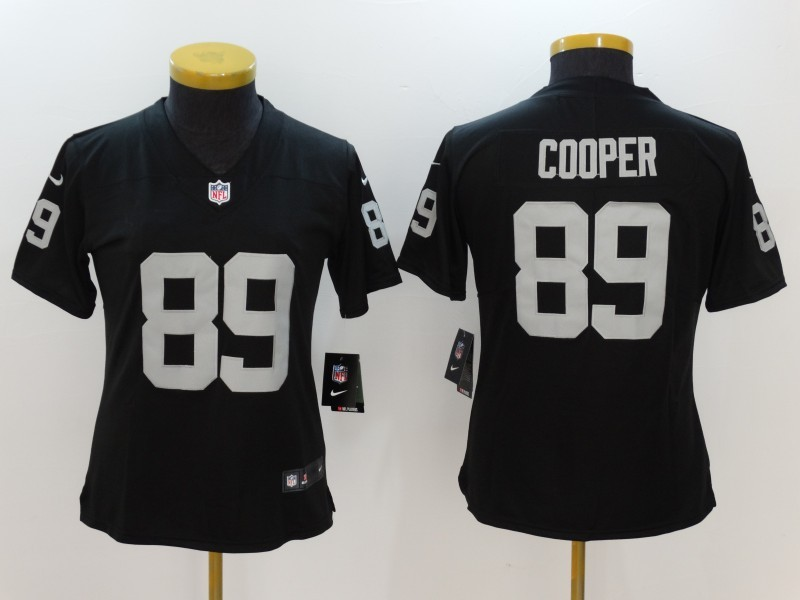 Womens Oakland Raiders 89 Cooper Black Nike Vapor Untouchable Limited Jersey