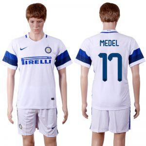 2016-2017 club Inter Milan away 17 White Soccer Jersey
