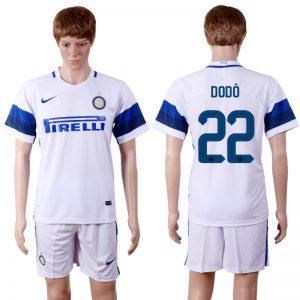 2016-2017 club Inter Milan away 22 White Soccer Jersey