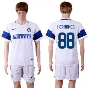 2016-2017 club Inter Milan away 88 White Soccer Jersey