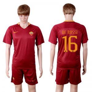 2016-2017 club Rome home 16 Red Soccer Jersey
