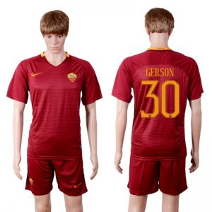 2016-2017 club Rome home 30 Red Soccer Jersey