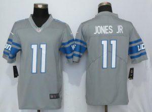 Detroit Lions 11 Jones jr Steel Color Rush Gray New Nike Limited Jersey