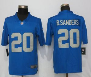 Detroit Lions 20 B.Sanders Blue Throwback Retired Player Vapor Untouchable New Nike Limited Jersey