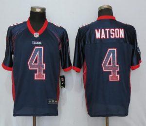Houston Texans 4 Watson Drift Fashion Blue New Nike Elite Jerseys