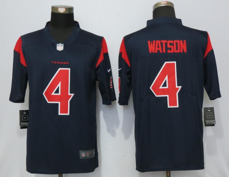 Houston Texans 4 Watson Navy Blue Color Rush Nike Men's Limited Jersey