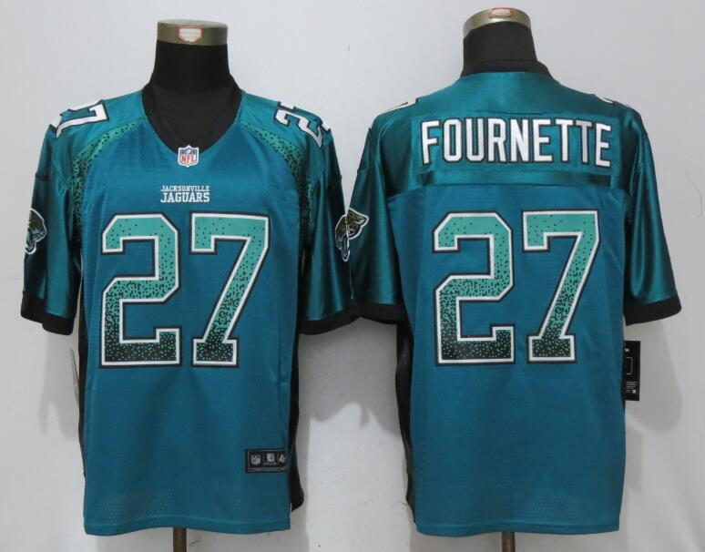 Men Jacksonville Jaguars 27 Fournette Green Drift Fashion Nike Elite NFL Jerseys