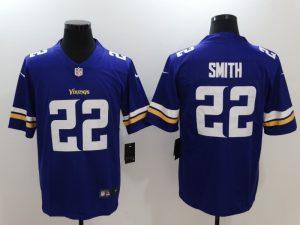 Minnesota Vikings 22 Smith Purple Nike Vapor Untouchable Limited Jersey