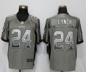 Oakland Raiders 24 Lynch Drift Fashion Gray NEW Nike Elite Jerseys