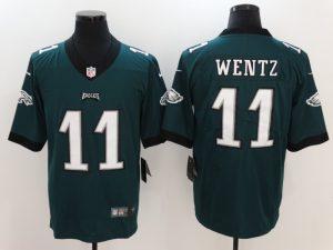 Philadelphia Eagles 11 Wentz Green Nike Vapor Untouchable Limited Jersey