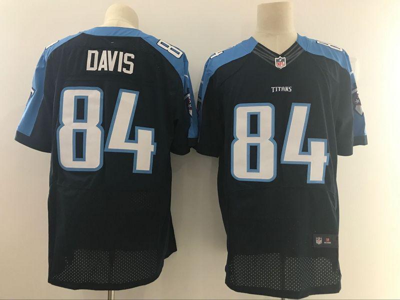 Tennessee Titans 84 Davis Black Nike Elite Jerseys