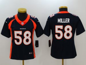 Womens Denver Broncos 58 Miller Blue Nike Vapor Untouchable Limited Jersey